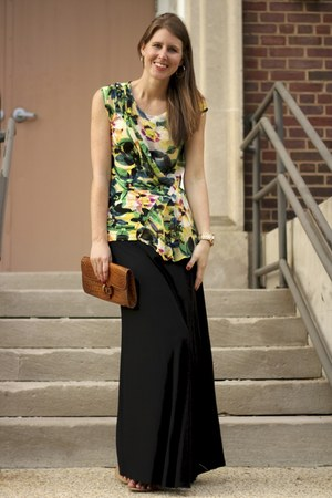 Zara skirt - Anthropologie shirt - J Crew sandals