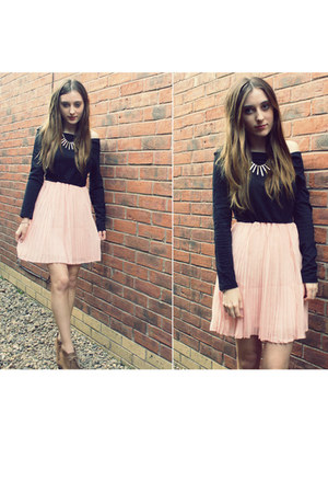 pleats OASAP dress - lace-up new look wedges - H&M necklace