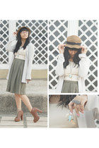 jacket - dress - polyester hat hat - skirt