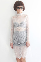 See Through L/S Lace Dress