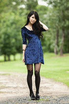 navy velvet chicabooti dress - black bow booties Pinet shoes