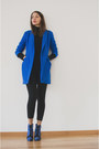 Blue-asos-boots-blue-asos-coat-black-no-name-sweater