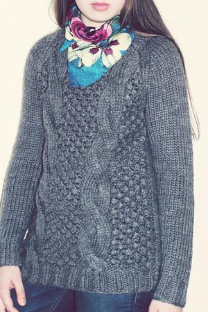 neck scarf Mango scarf - chunky knit vintage sweater