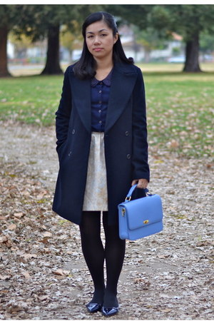 Zara coat - Target sweater - JCrew purse - Forever 21 skirt - Zara flats