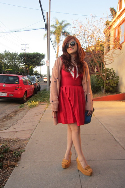Rachel Antonoff via ModCloth dress - Marc by March Jacobs bag - modcloth cardiga