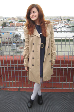 Zara jacket - Forever 21 dress - Target tights - Jeffrey Campbell shoes - vintag