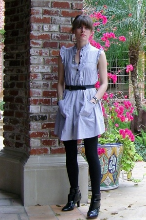 unknown brand dress - thrifted belt - forever 21 leggings - Alice & Olivia x Pay