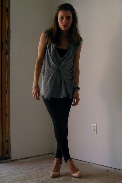 freepeople top - f21 leggings - GoJane shoes
