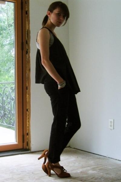 UO top - Go Intl pants - Dani Black shoes - Indian bangles accessories