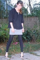 madewell blouse - BCBG skirt - Target tights - from DSW shoes