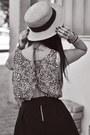 Straw-hat-mango-hat-cut-out-back-h-m-t-shirt-skater-rock-h-m-skirt