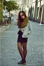 periwinkle jeans American Apparel jacket - black chelsea boots max shoes boots