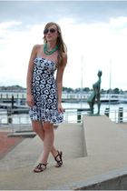 white Urban Outfitters dress - black Dolce Vita shoes