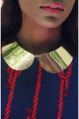 Navy-red-knot-vintage-dress-red-red-beret-h-m-hat-yellow-h-m-necklace