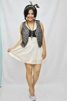 ivory lace Ferocetti skirt - lace Ferocetti vest