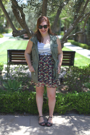 threadsence shoes - Ruche dress - striped Target top - Old Navy vest