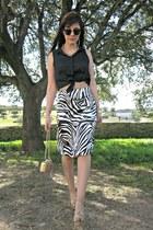 black Alicia Rueda skirt - camel pedro miralles bag - camel pedro miralles heels