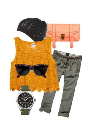 timex watch - PROENZA SCHOULER bag - Ray Ban sunglasses - Firetrap accessories