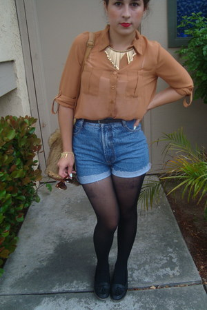 chiffon closet blouse - levis Bongo shorts - cotton on loafers