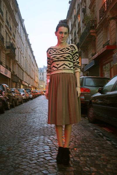 inlovewithfashion jumper - 1 thrifted skirt