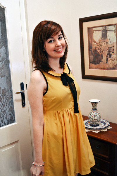 mustard Dotti dress