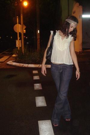 Sportsgirl jeans - Valleygirl blouse - Marc by Marc Jacobs purse - Sportsgirl ac