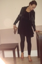 Target Australia jacket - dress - tights - Shoobiz shoes - Witchery purse