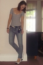Minty Meets Munt top - scarf - Sportsgirl jeans - Novo shoes