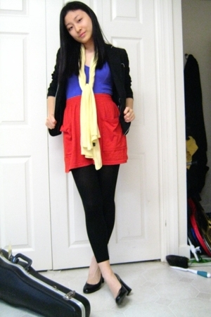 Gap blazer - Mirella - aa skirt - Bakers shoes