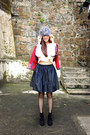 Black-pedro-garcia-boots-silver-beanie-maiami-hat-red-muzungu-sisters-jacket