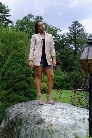 Forever 21 blazer - Pac Sun shorts - Forever 21 shoes