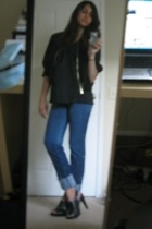 forever 21 top - Express jacket - Marc by MJ jeans - Target shoes