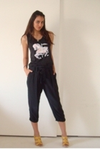 vintage from Wasteland top - Express pants - Nine West shoes