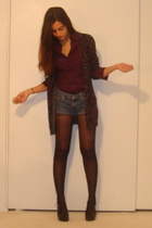red Express shirt - blue DIY old calvin klein shorts - gray forever 21 - twelve