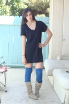 Express dress - Target socks - vintage boots