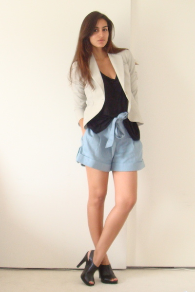 Theory blazer - Express t-shirt - Marc by MJ shorts - Target shoes