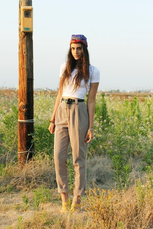amethyst American Apparel scarf - tan American Apparel pants