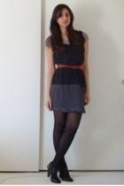 H&M t-shirt - thakoon target dress - vintage belt - Target shoes