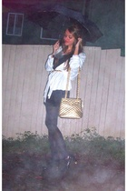 vintage jacket - vintage dress - vintage purse - Novo shoes