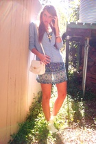 vintage jacket - vintage dress - vintage purse - Target shoes