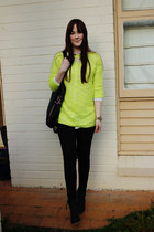 yellow neon Dotti jumper