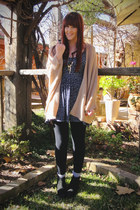 navy cotton on dress - peach cape portmans cardigan