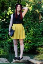 mustard skirt