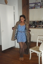 Topshop dress - River Island coat
