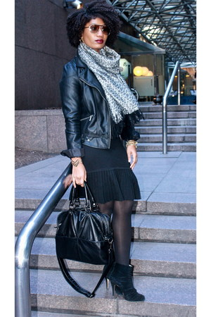 black leatherette Zara jacket