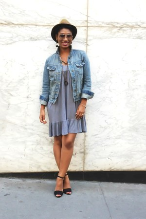 denim Gap jacket - Zara shoes - H&M dress - hat