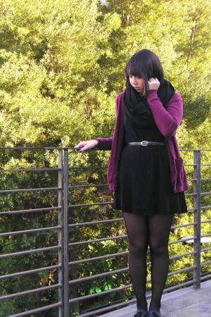 Lux dress - aa jacket - Urban Outfitters stockings - made by elves shoes - belt