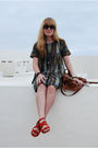 Red-balenciaga-shoes-green-topshop-dress-brown-mulberry-purse