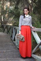 Sportsgirl skirt - vintage bag - Dotti jumper