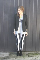 vintage jacket - Reverse leggings - Sportsgirl t-shirt